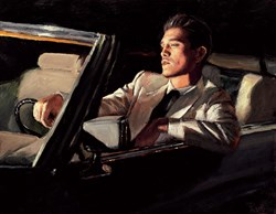 Late Drive II by Fabian Perez - Hand Finished Limited Edition on Canvas sized 18x14 inches. Available from Whitewall Galleries
