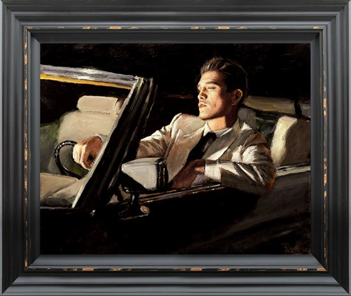 Late Drive II by Fabian Perez - Framed Hand Finished Limited Edition on Canvas