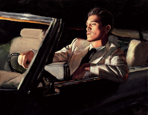 Late Drive II by Fabian Perez - Hand Finished Limited Edition on Canvas